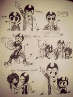 .BENDY AND INK BENDY-sketches #3 by vocaloid121