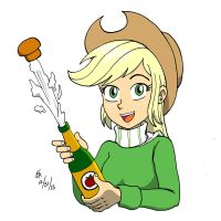 New Years 2014 Applejack by mayorlight