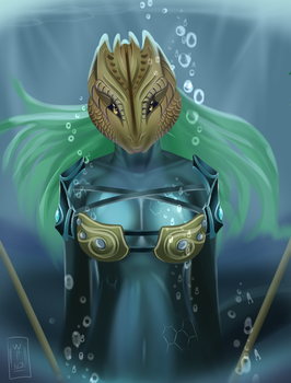 Mermaid Warrior by WhitePulse43