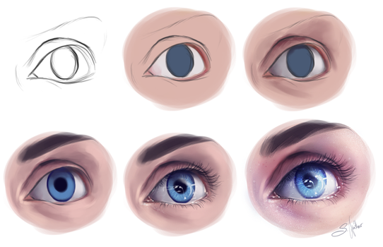 Eye Study - Step by Step by SandraWinther