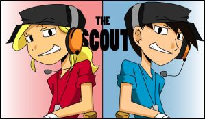 The Scout- RED and BLU by s0s2
