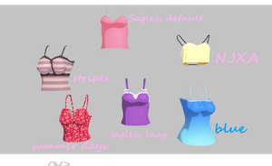 MMD Tanktop pack by amiamy111