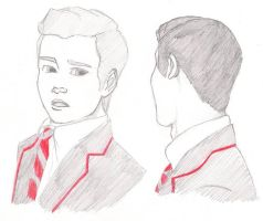Klaine sketch by ivy11