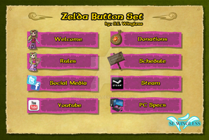 Zelda Twitch Buttons Set Pink by SEwingless