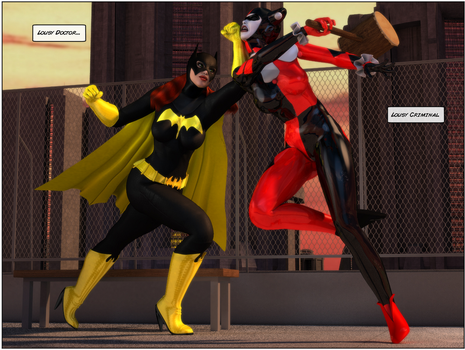 Batgirl Fight 05 by willdial