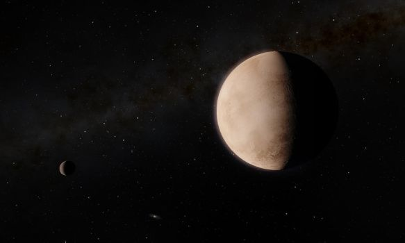 Pluto and Charon by jcpag2010