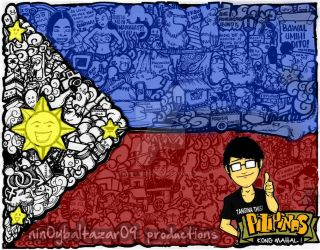1st doodle I love Philippines! (colored) by nin0ybaltazar09