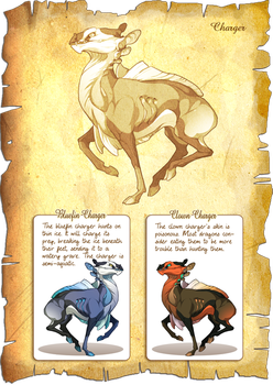 Flight Rising Bestiary: Charger by neondragon