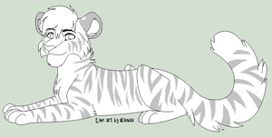 Tiger Line Art by Kainaa