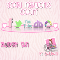 Social Network Pink dock, Xwidget by may0487