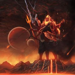 Agni - God of Fire by molee