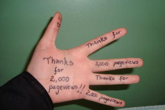 Thanks for 2000 pageviews by MizaO-Chan