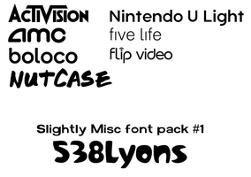 Slightly Misc Font Pack 1 - 538Lyons by DLEDeviant