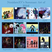 Summary Art of 2014! by NoxidamXV