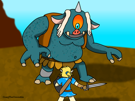 Fighting the Hinox by CraigTheCrocodile