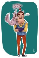 when i see cute/awesome Hello Neighbor fanart by CherilDevalet