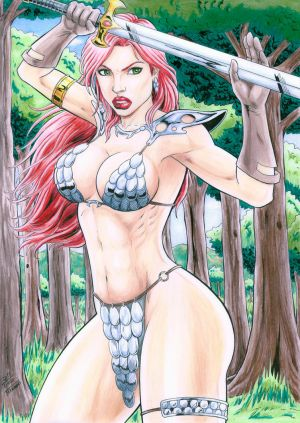 RED SONJA - color. by TIAGO-FERNANDES