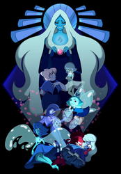 Blue Diamond's Court by LeeVC