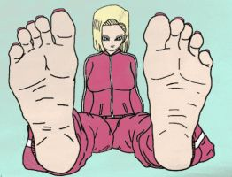 Android 18's Tournament Ready Soles by JillyBeansArt