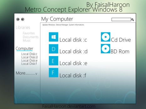 Windows explorer Metro Concept by Faisalharoon