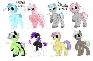 Pone pride adopts: OPEN by Tiny-Forest-Prince