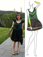 Loki Dress by Misguided-Ghost1612