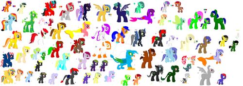 All My MLP Creatures WiP by Crazyperson555