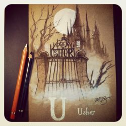 U is for Usher by Disezno