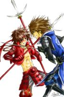 Sengoku BASARA:Fight-Colour by starie13