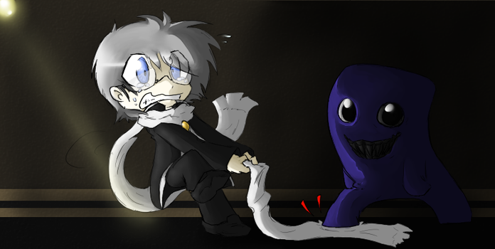 :Ao Oni: Scarf Troubles by Darkness-the-fox555