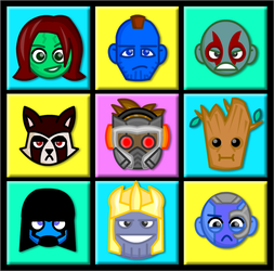 Chibi Guardians of the Galaxy by LegendaryFrog