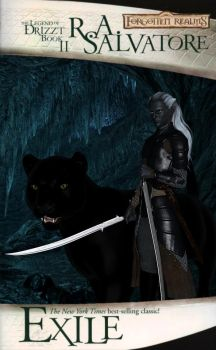 Legend of Drizzt :: Exile Fan Cover Version I by DrowElfMorwen
