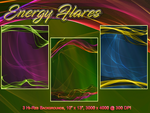 Energy Flares Backgrounds by poserfan
