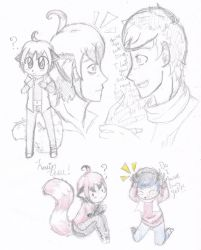 Kevin and Leon doodles by sam-the-drawing-fox