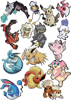 Pokemon Stickers by Samplenote