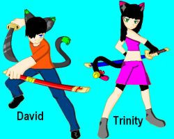 David and Trinity Kitty by Busted-Love