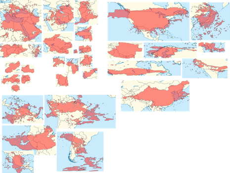 Venusian country area comparisons by 1Wyrmshadow1