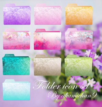 Floral Folder icon set by akamichan9 by akamichan9
