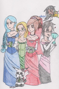 Internet Bride and Bridesmaids by SwiftNinja91