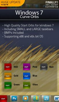 Windows 7 Start Orb - Curve by Renacac
