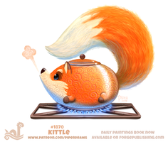 Daily Paint 1870# Kittle by Cryptid-Creations
