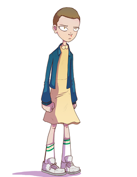 Eleven from Stranger Things by SolomonMars
