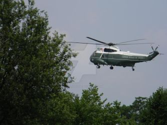 Marine One Landing by Letohatchee