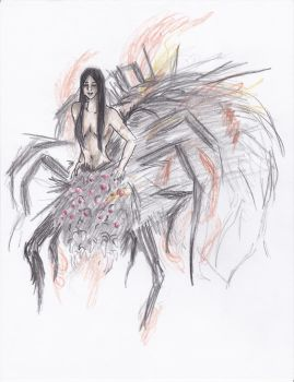 Chaos Witch Quelaag by ghostsymbol
