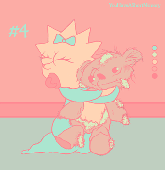 Palette Challenge #4 of 18 - Maggie Simpson by YouHaveAShortMemory