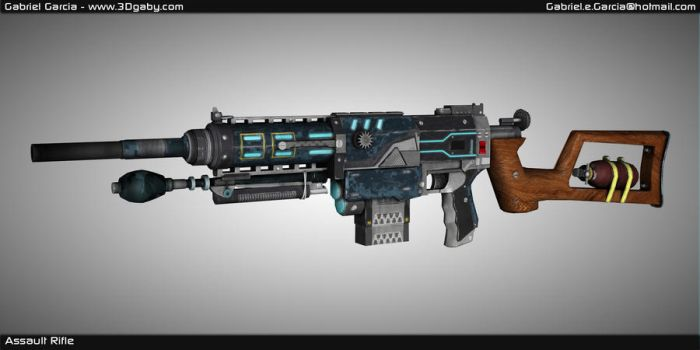 Assault Rifle 3D model by 3dgaby