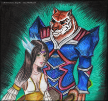 PW: Motamuchet and Anjutka by Wol4ica