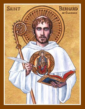 St. Bernard of Clairvaux icon by Theophilia