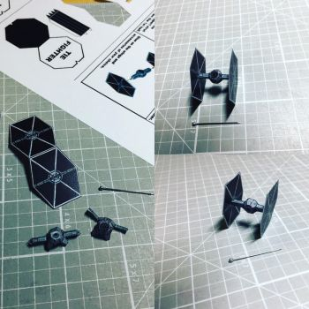 Micro Star Wars TIE Fighter by otherwld