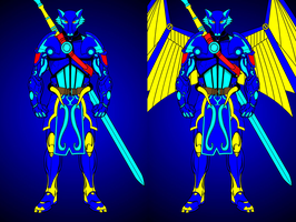 Wolf Blade Warrior/Angel Mode by WOLFBLADE111